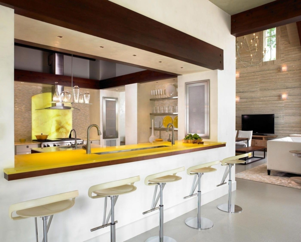 bar-plan-de-travail-design-jaune-tabourets