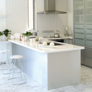 Un bar plan de travail - des idées pour l'utilisation efficace de l'espace dans la cuisine