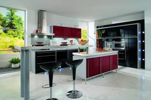bar-plan-de-travail-moderne- maison-en-rouge-et-blanc