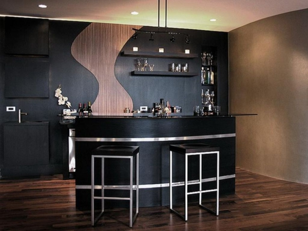Un bar plan de travail des id es pour l 39 utilisation efficace de l 39 espace dans la cuisine - Ikea mobile bar ...