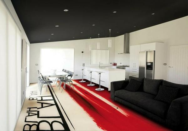 ✿ La peinture pour le sol intérieur transforme votre plancher en espace d'art