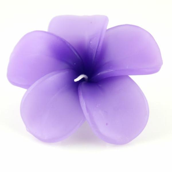 bougie-fleur-elegante-violet