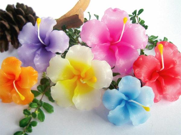 bougie-fleur-en-couleurs-vives