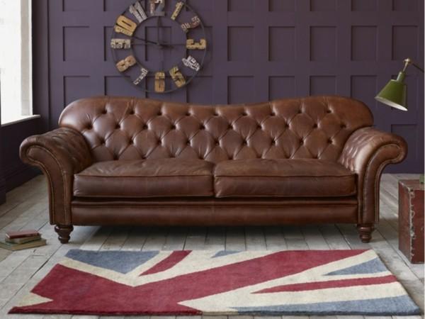 canape cuir vintage marron capitonne style chesterfield e1407765416759 Résultat Supérieur 49 Unique Canape Cuir Style Vintage Photographie 2017 Lok9