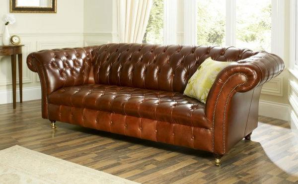 canape-cuir-vintage-marron-capitonne