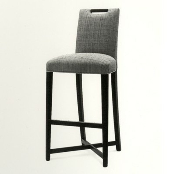 chaise-haute-de-bar-bois-tissu