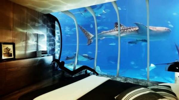 Modele Cuisine Pour Loft : Le design dune chambre dhôtel de luxe sousmarine  incroyable et