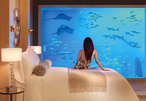 Le design d\'une chambre d\'hôtel de luxe sous-marine - incroyable et ...