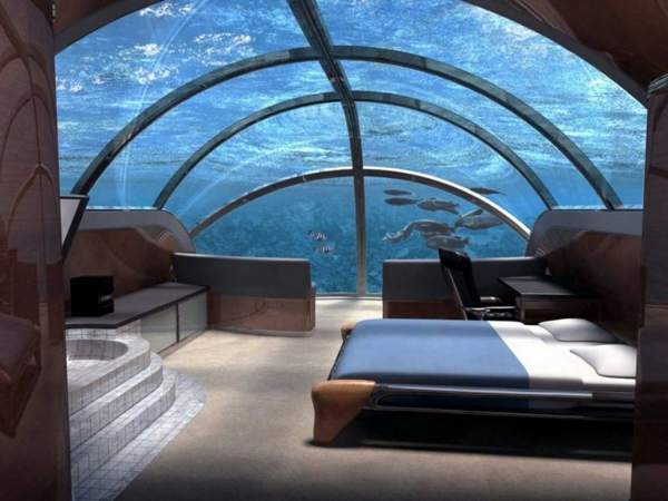 Le Design Du0027une Chambre Du0027hôtel De Luxe Sous Marine U2013 Incroyable Et  Fascinant!