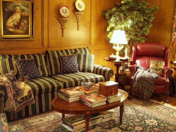 Une chambre de style anglais peut vous transporter dans un for Canape style anglais