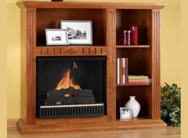 cheminee-decorative-idee-biblioteque