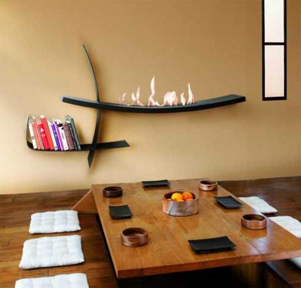 cheminee-decorative-idee-mur-interessante