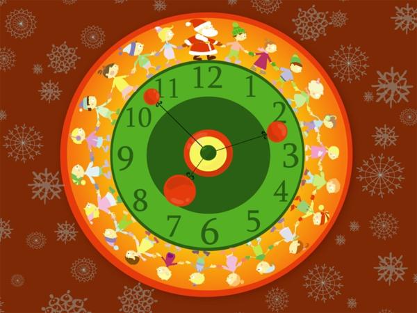 pendule-d' enfant-pour-la-fête-de-Noel