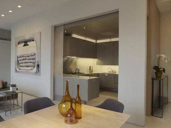 La cloison coulissante une l gance pratique et belle - Cloison vitree cuisine ...