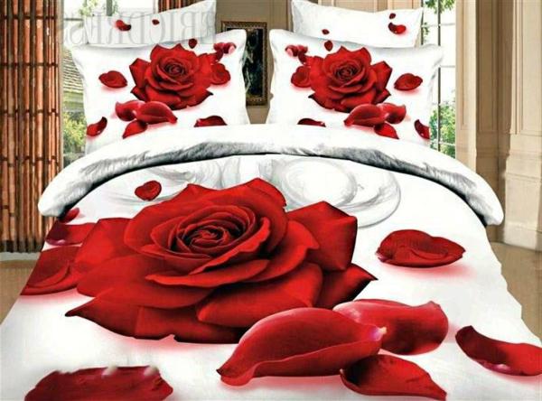couette-imprimée-avec-des-roses