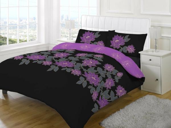 couette-imprimée-des-fleurs-lilas