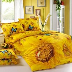 La couette imprimée est le vêtement joli de votre lit