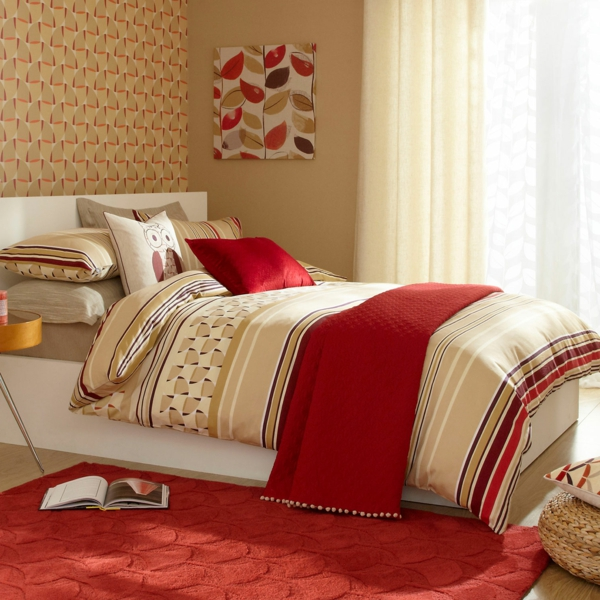 Emejing Chambre A Coucher Rouge Et Beige Pictures - Matkin.info ...