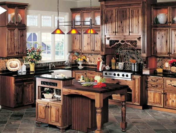Les plus belles cuisines rustiques en images Kitchen design for village
