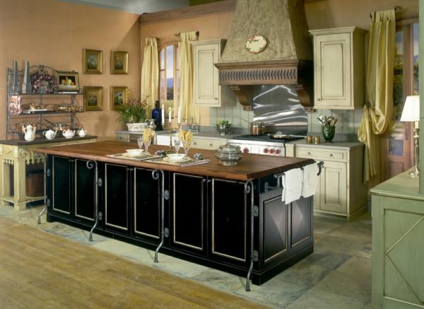 cuisines-rustiques-ilot-centrale-bois
