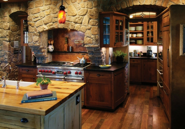 cuisines-rustiques-plan-de-travail-livres