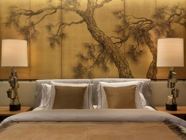 Décoration murale originale avec une allée dans un forêt de bambous