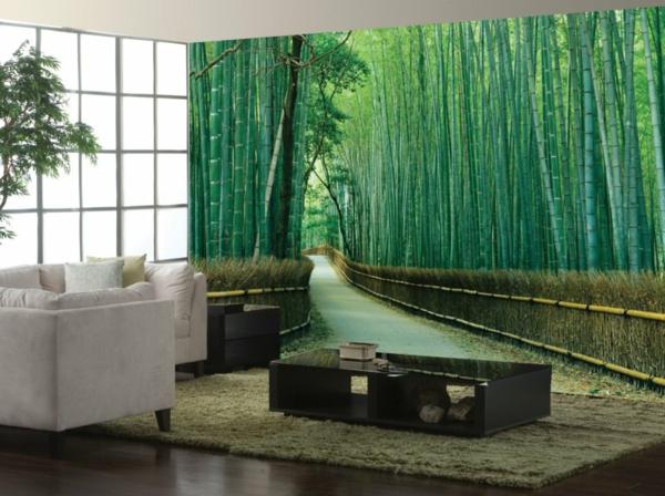 décoration-murale-originale-bambous