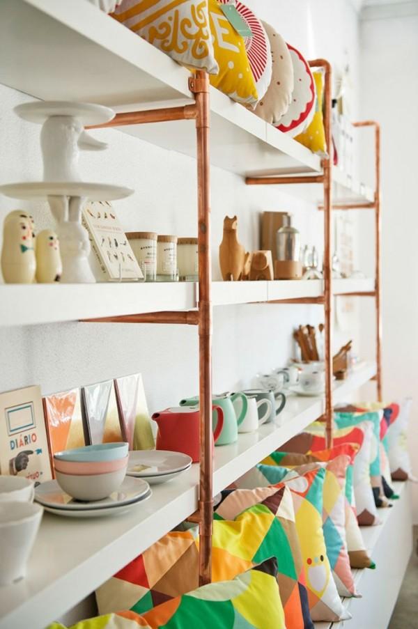 décoration-pour-le-magazin-étagères-simple