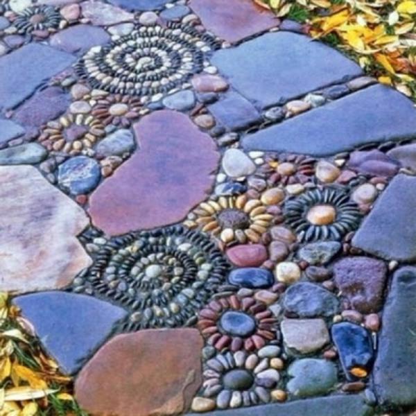 Le dallage en pierre naturelle for Pierres decoratives exterieur