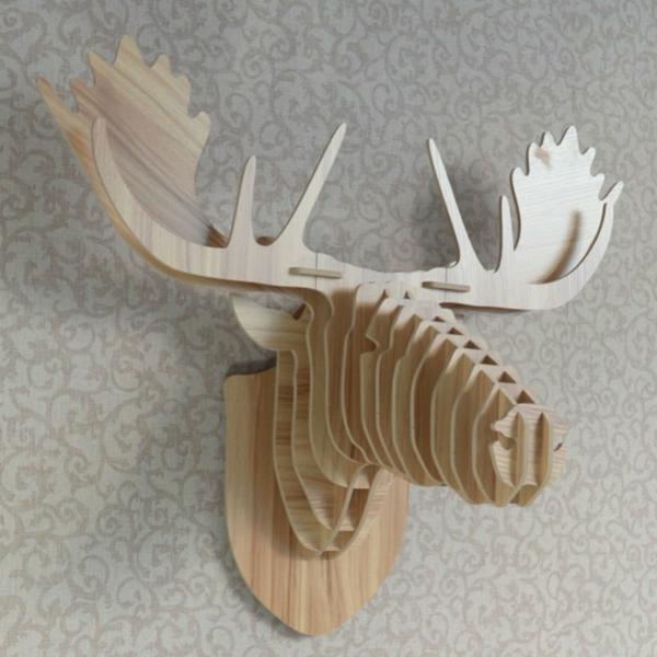 decoration-en-bois-cerf