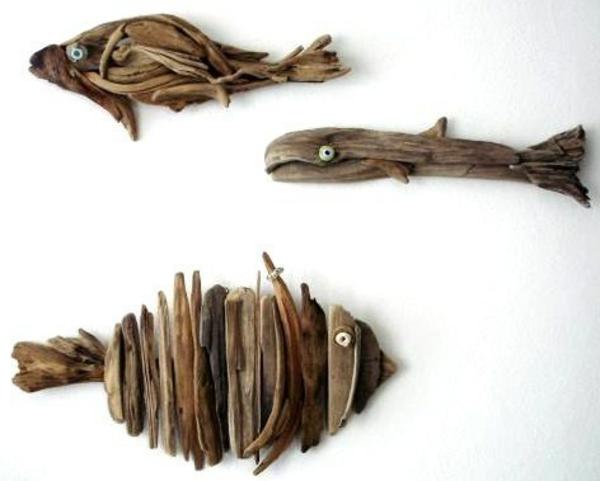 La d coration en bois des id es et des exemples - Objet deco en bois flotte ...
