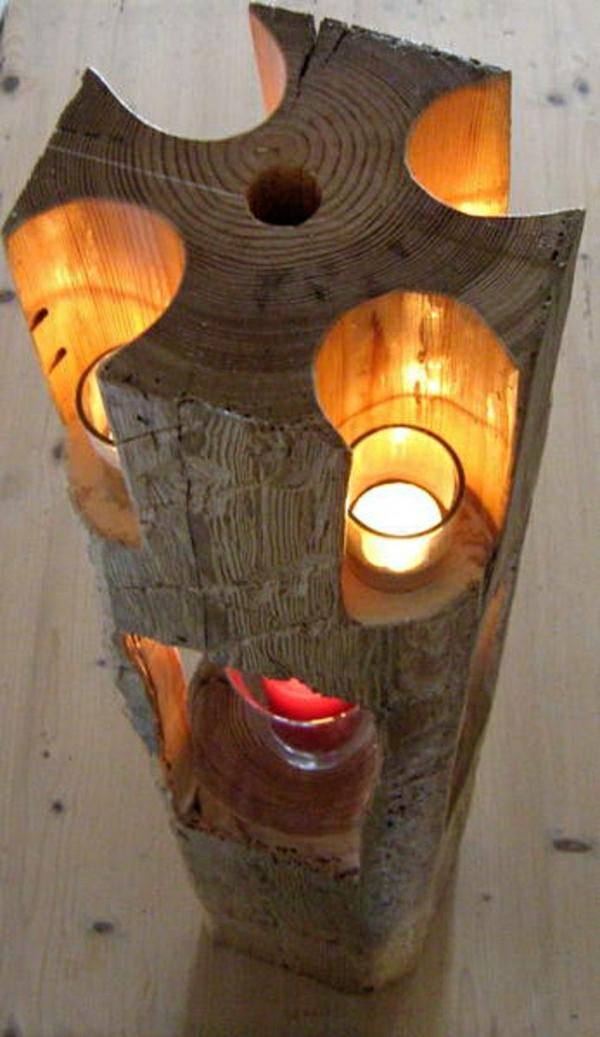 decoration-en-bois-pour-bougies