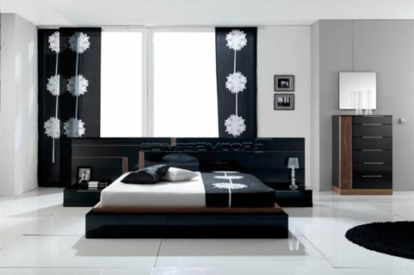la d coration noir et blanc vous surprenda avec style et. Black Bedroom Furniture Sets. Home Design Ideas