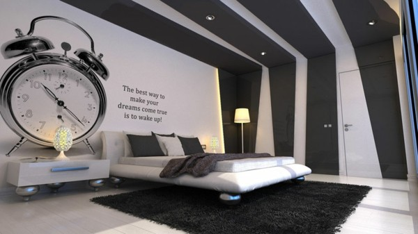 decoration-noir-et-blanc-contemporain-lit