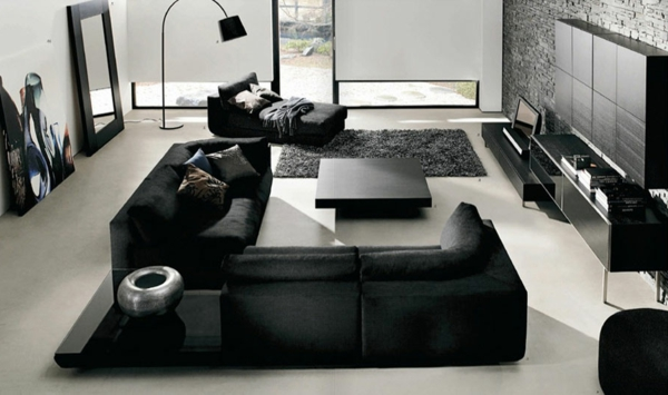 decoration-noir-et-blanc-contemporain-table-basse-canapes