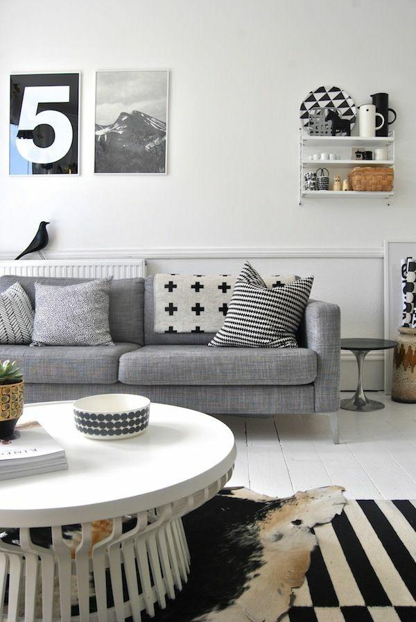 La d coration noir et blanc vous surprenda avec style et for Decoration table noir et blanc