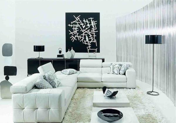 La d coration noir et blanc vous surprenda avec style et for Decoration salon noir et blanc