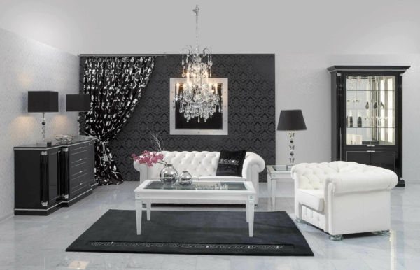 decoration-noir-et-blanc-contemporain-table-basse-salon-rideau