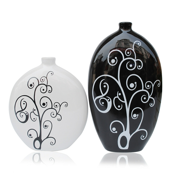 decoration-noir-et-blanc-contemporain-vases