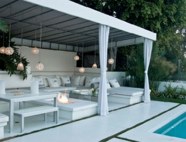 Decoration Terrasse Exterieure Pergola Piscine