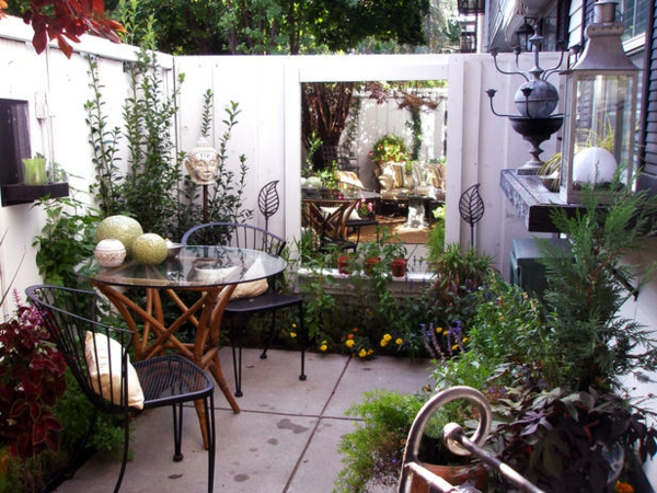 La d coration terrasse ext rieur des id es pour for Decorating ideas for small courtyards