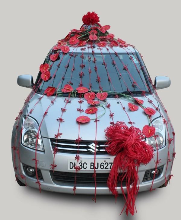 decoration-voiture-mariage-rouge