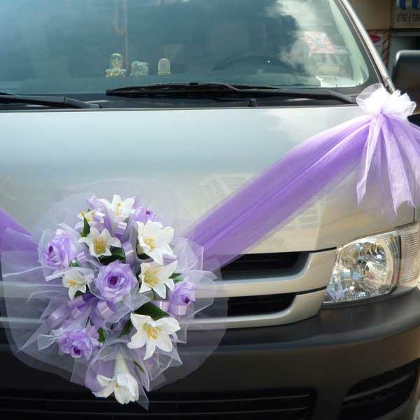 Deco voiture Decoration voiture mariage romantique