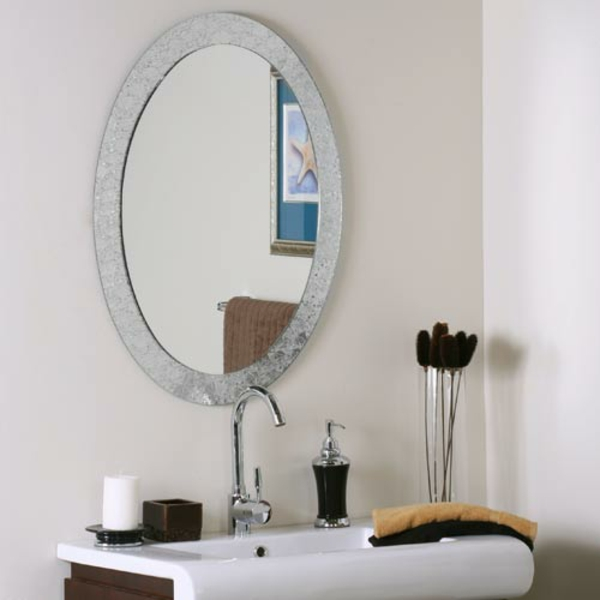 Mod les de miroirs ronds pour la salle de bain for Pose miroir salle de bain