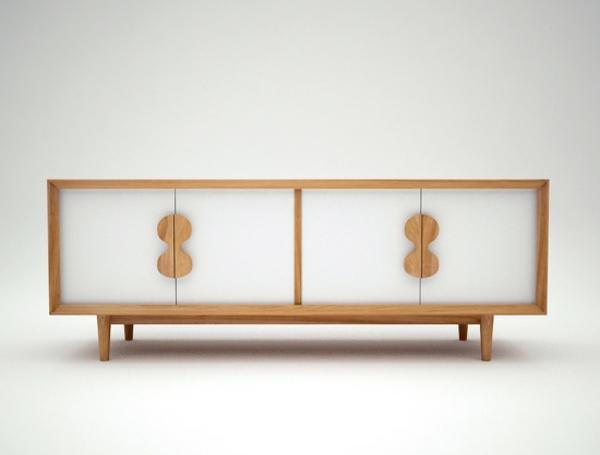 enfilade-scandinave-moderne-teak-portes-peintes-en-blanc