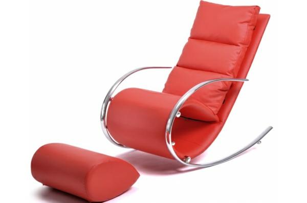 fauteuil-design-rouge-a-bascule-revetement-cuir