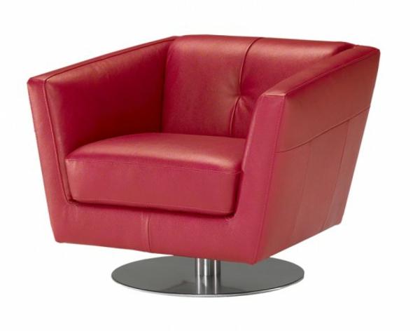 fauteuil-design-rouge-cosy-pietement-acier