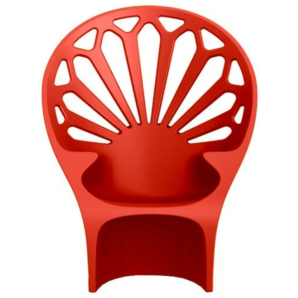 fauteuil-design-rouge-dossier-perle