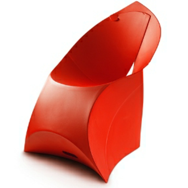 fauteuil-design-rouge-futuriste-plastique