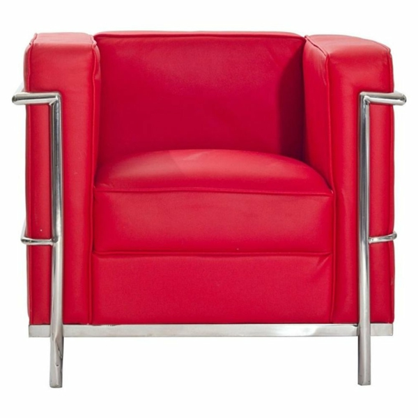 fauteuil-design-rouge-moderne-chrome